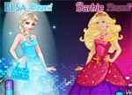 Princess Games Elsa vs Barbie Fashion Contest
