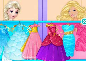 elsa vs barbie fashion contest2