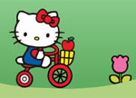 Hello Kitty Bike Game