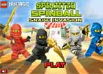 Ninjago Games : Ninjago Spinball Snake Invasion Game