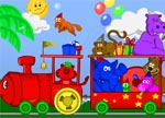 Besplatne igrice Animated animal train coloring Kostenlose Spiele